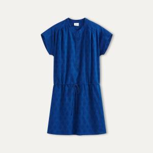 Платье жаккардовое HARTFORD. Цвет: синий королевский