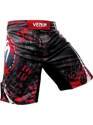 Шорты ММА Venum Korean Zombie UFC 163  - Black. Цвет: красный, черный