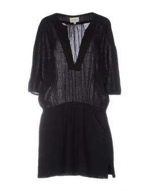 Короткое платье POLDER. Цвет: черный