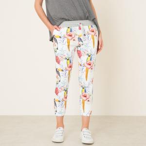 Брюки FREE PRINT SWEET PANTS. Цвет: белый наб.рисунок