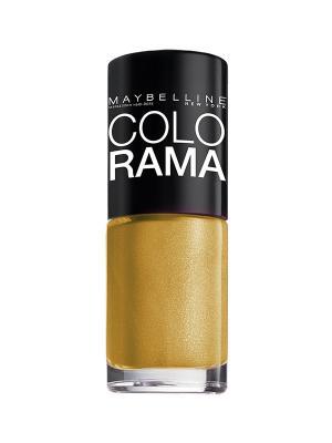 Лак для ногтей Colorama, оттенок 108, Золотой песок, 7 мл Maybelline New York. Цвет: золотистый