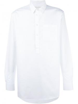 Рубашка Kaho Public School. Цвет: белый