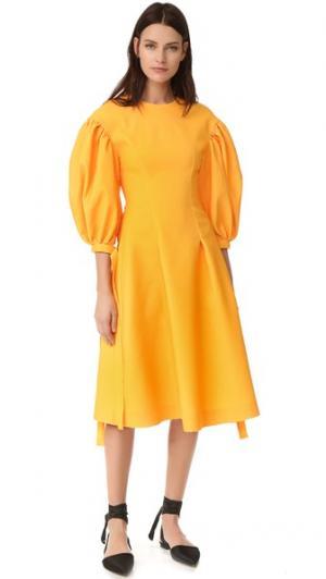 Платье Jamie Rejina Pyo. Цвет: желтый