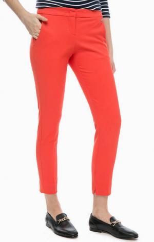 Укороченные брюки красного цвета TOM TAILOR. Цвет: красный