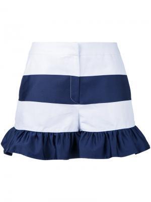 Полосатые шорты с оборками Goen.J. Цвет: белый