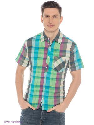 Рубашка Mavango. Цвет: зеленый, голубой