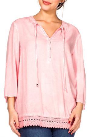 Блуза SHEEGO. Цвет: розовый