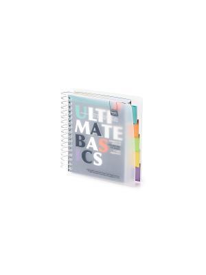 Бизнес-блокнот-2 а6, 150 л. гр., разделители, пластиковая обл. ultimate basics Альт. Цвет: черный