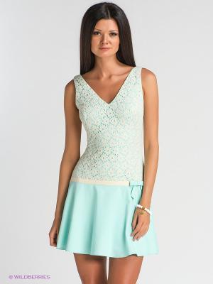 Платье TOPSANDTOPS. Цвет: бирюзовый