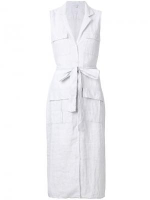 Платье-рубашка с карманами James Perse. Цвет: белый
