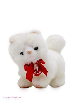 Белая кошечка TRUDI. Цвет: белый