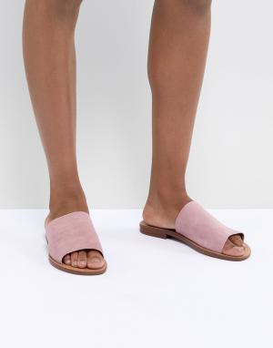 New Look Замшевые шлепанцы. Цвет: розовый