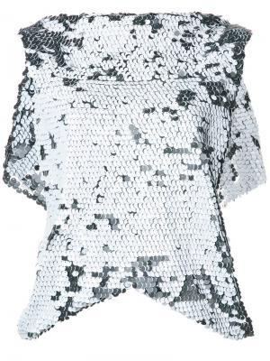 Блузка Ethereal с пайетками Maticevski. Цвет: чёрный