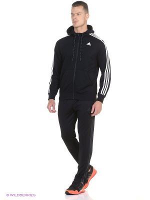 Толстовка ESS THE HOOD Adidas. Цвет: черный, белый
