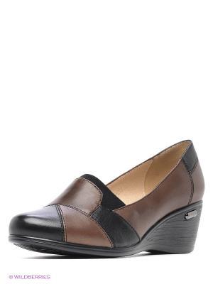 Туфли Covani. Цвет: коричневый, черный