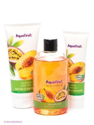 Косметический набор Персик & Маракуйя Aquafruit. Цвет: оранжевый, желтый, белый, зеленый