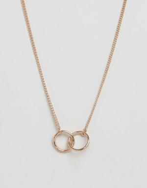 Made Ожерелье цвета розового золота с подвеской единство. Цвет: золотой