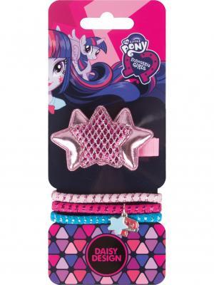 Набор аксессуаров для волос Звезда удачи Daisy Design. Цвет: розовый