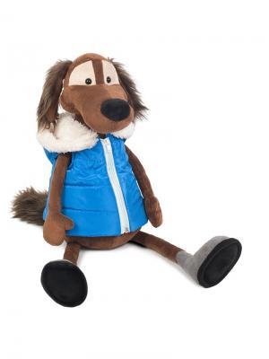 Мягкая Игрушка Пес Шерлок в Жилетке, 28 См MAXITOYS. Цвет: синий, коричневый