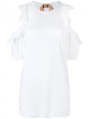 Блузка с рюшами Nº21. Цвет: белый