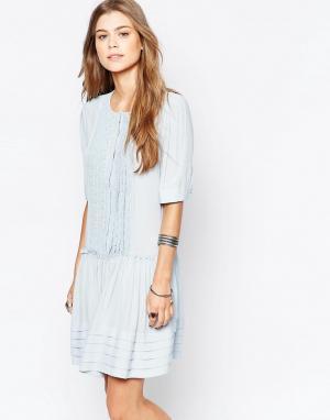 Deby Debo Чайное платье с плиссировкой спереди Odelia. Цвет: синий