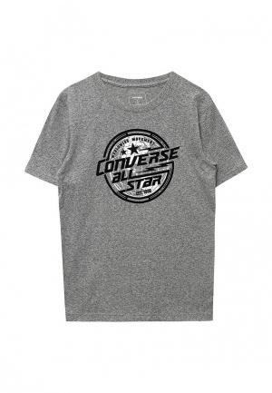 Футболка Converse. Цвет: серый