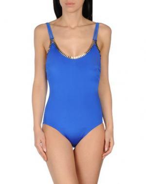 Слитный купальник MOEVA. Цвет: синий