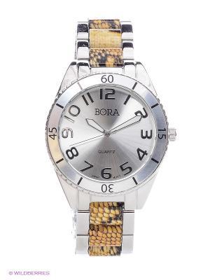 Часы Bora. Цвет: серебристый, белый