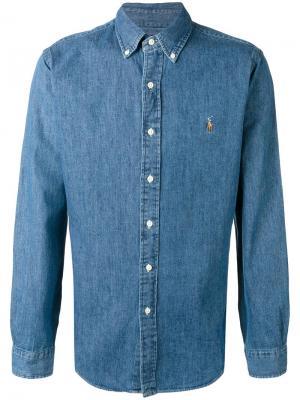 Джинсовая рубашка на пуговицах Polo Ralph Lauren. Цвет: синий
