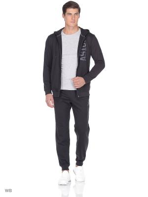 Толстовка Full Zip Hoodie ASICS. Цвет: черный, серый