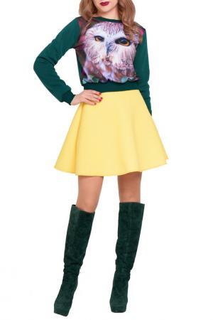 Юбка Majaly. Цвет: желтый
