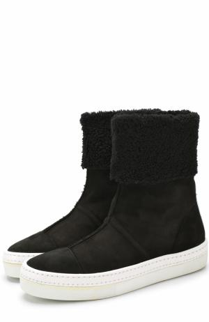 Замшевые ботинки Idea на контрастной подошве Walter Steiger. Цвет: черный