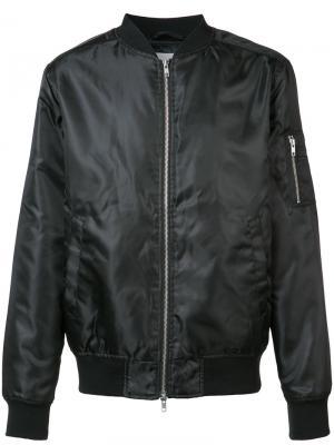 Блестящая куртка-бомбер Wesc. Цвет: чёрный