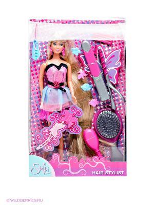 Игрушка Кукла Штеффи-парикмахер с акс, д/волос, 12/36 Simba. Цвет: розовый