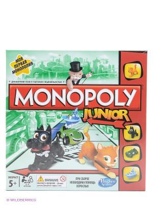 Настольная игра Моя первая монополия MONOPOLY Hasbro. Цвет: светло-зеленый
