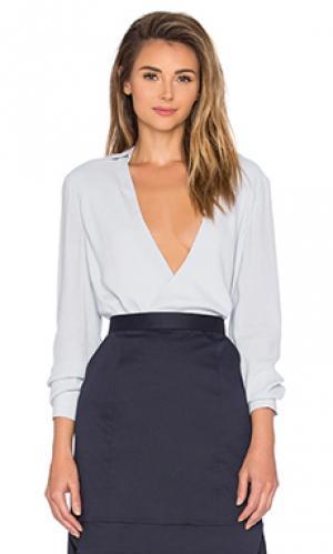 Рубашка с длинными рукавами the catherine TY-LR. Цвет: нежно-голубой