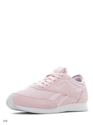 Кроссовки REEBOK ROYAL CL JOG PORCELAIN PINK/WHITE. Цвет: розовый, белый