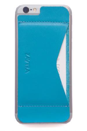 Кошелек-накладка для iPhone 6/6s ZAVTRA. Цвет: голубой