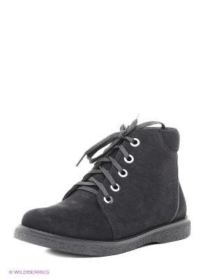 Ботинки J&Elisabeth. Цвет: темно-серый