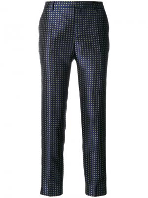 Классические брюки с вышивкой Essentiel Antwerp. Цвет: синий