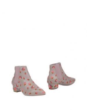 Полусапоги и высокие ботинки RAYNE. Цвет: голубиный серый