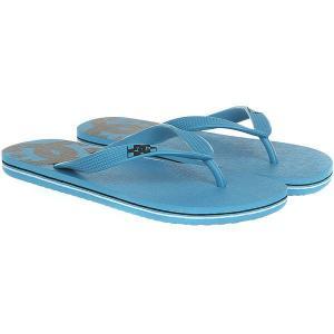 Вьетнамки DC Spray Real Blue Moon Shoes. Цвет: голубой,черный