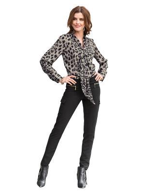 Блуза APART. Цвет: коричневый, черный
