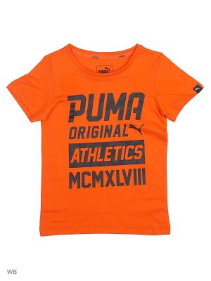 Футболка STYLE Graphic Tee PUMA. Цвет: оранжевый