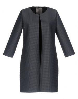 Легкое пальто ES'GIVIEN. Цвет: свинцово-серый