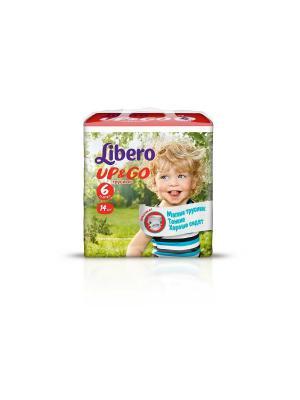 Libero Трусы детские одноразовые Up&Go экстра лардж 13-20кг 14шт упаковка маленькая. Цвет: зеленый