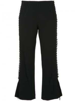 Укороченные брюки со шнуровкой Jonathan Simkhai. Цвет: чёрный