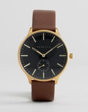 Newgate Часы с кожаным коричневым ремешком. Цвет: коричневый