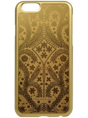 Чехол Lacroix для iPhone 6/6S Paseo metal Hard Gold Christian. Цвет: золотистый