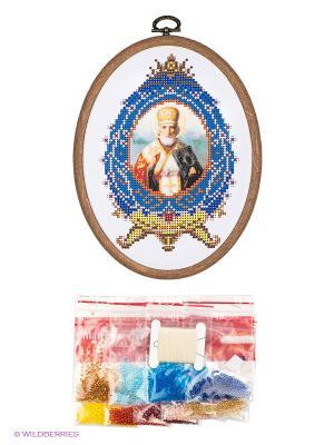 Набор для вышивания с бисером Николай Чудотворец Матренин Посад. Цвет: белый, синий